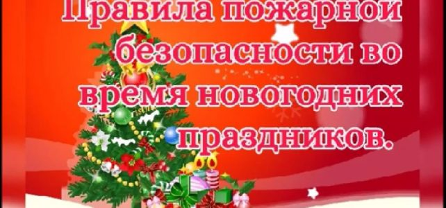 Памятка родителям о безопасности детей в новогодние каникулы
